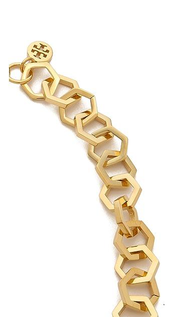 Tory Burch Hexagon Short Necklace