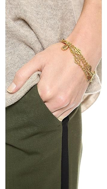 Tory Burch Multi Strand Logo Bracelet