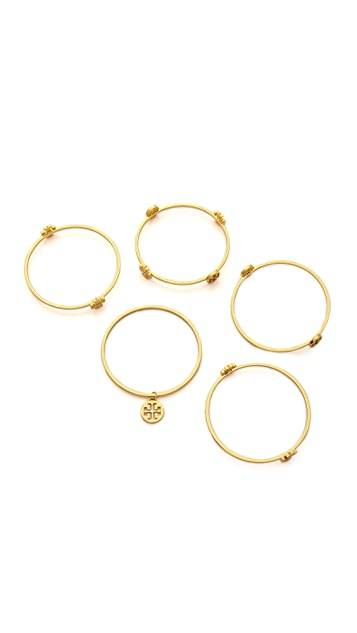 Tory Burch Logo Bangle Set