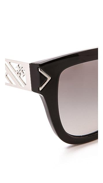 Tory Burch Electric Chevron Sunglasses