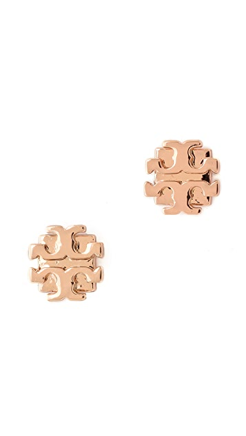 024e93a87 Tory Burch Small T Logo Stud Earrings | SHOPBOP