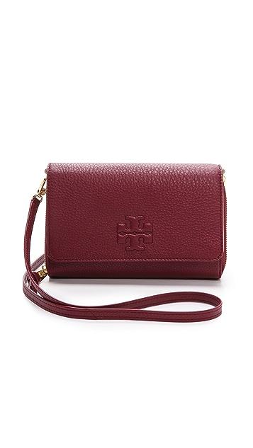 c99d2692b015 Tory Burch Thea Flat Wallet Cross Body Bag