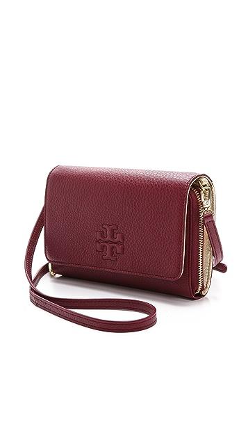 f49398b17952 ... Tory Burch Thea Flat Wallet Cross Body Bag ...