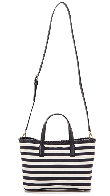 Tory Burch Marion Printed Nylon Small East / West Tote