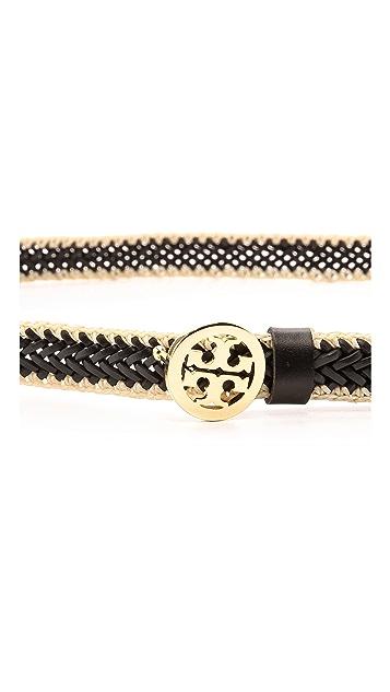 Tory Burch Leather Weave Belt