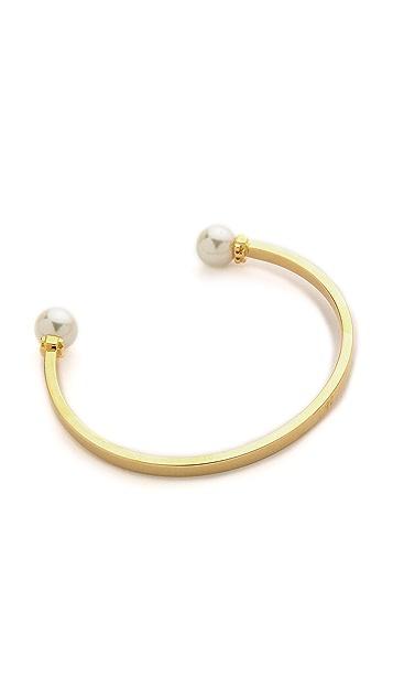 Tory Burch Glass Pearl Cuff Bracelet