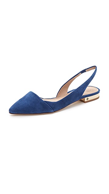 ebe005be8 Tory Burch Pointed Toe Slingback Flats
