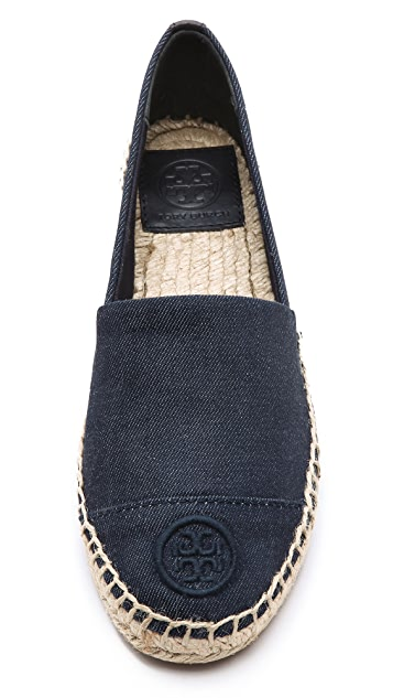 Tory Burch Denim Flat Espadrilles