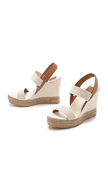 Tory Burch Two Band Wedge Slingback