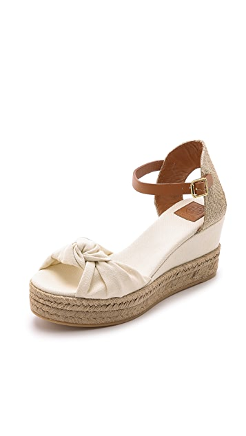 6d4e0887f Tory Burch Knotted Bow Wedge Espadrilles