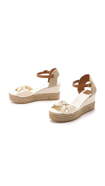39ddabad8 ... Tory Burch Knotted Bow Wedge Espadrilles