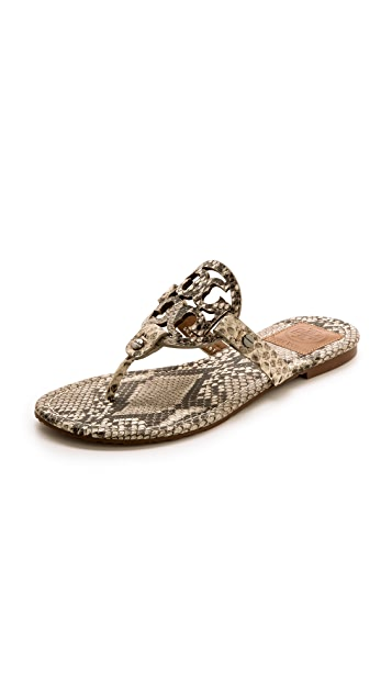 343640fed Tory Burch Miller Snake Print Thong Sandals