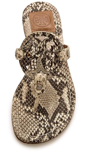 32e0388a8bbb ... Tory Burch Miller Snake Print Thong Sandals ...