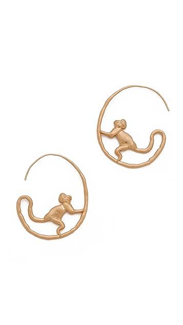 9b2d010647e9 Tory Burch Monkey Hoop Earrings ...