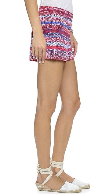 Tory Burch Soft Silk Short Shorts