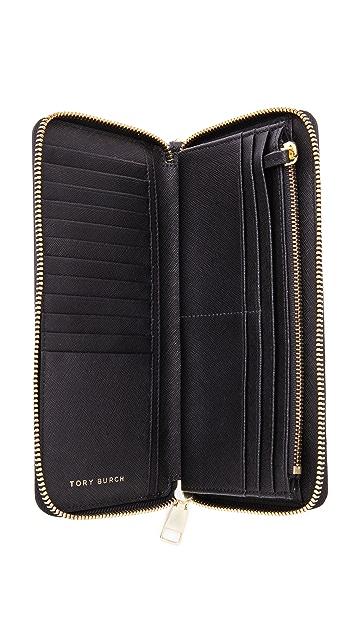 Tory Burch York Zip Continental Wallet