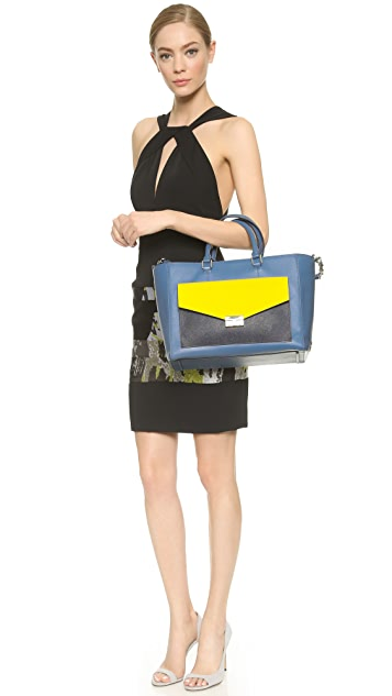 Tory Burch T Lock Colorblock East / West Tote