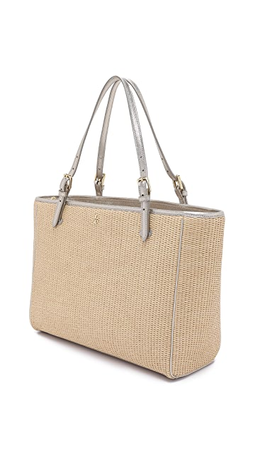 Tory Burch York Straw Buckle Tote