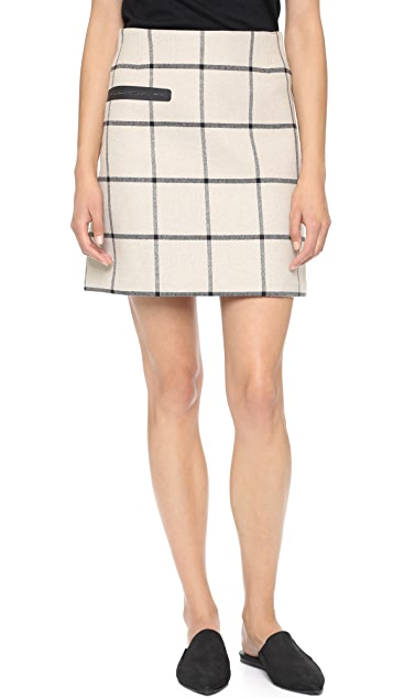Tory Burch Plaid Side Pocket Skirt