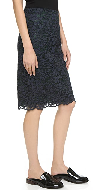 Tory Burch Lace Pencil Skirt