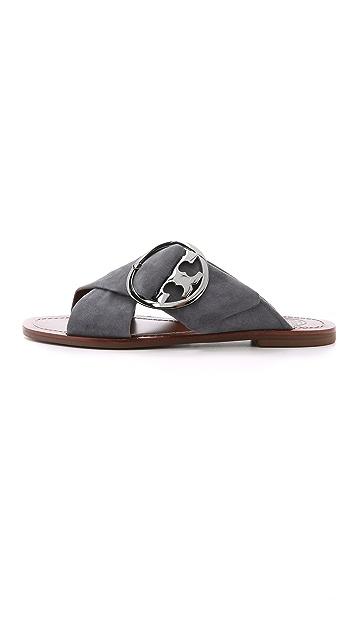 5ca895f4467 ... Tory Burch Grant Flat Sandals ...
