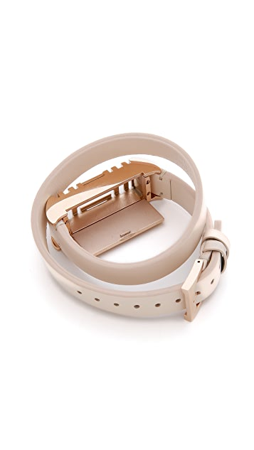 Tory Burch Tory Burch for Fitbit Fret Double Wrap Bracelet