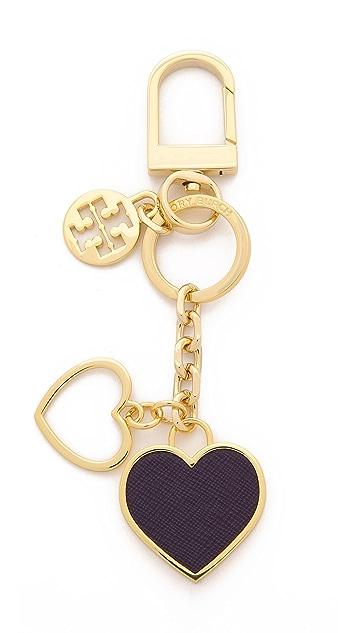 f2a7f4433ce Tory Burch Logo Heart Bag Charm
