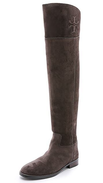 b4a512dea90 Tory Burch Simone Suede Over the Knee Boots