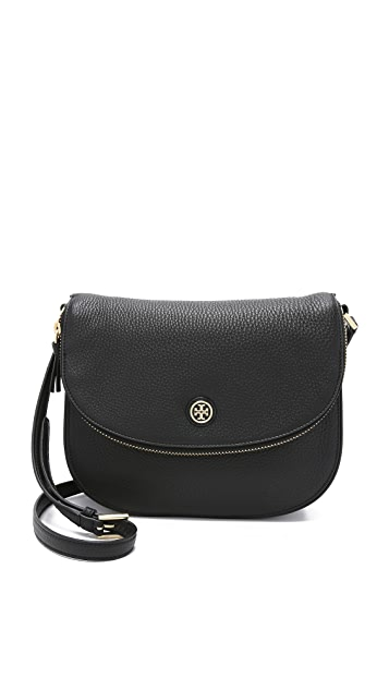 68d40d1a48e Tory Burch Robinson Pebbled Messenger Bag
