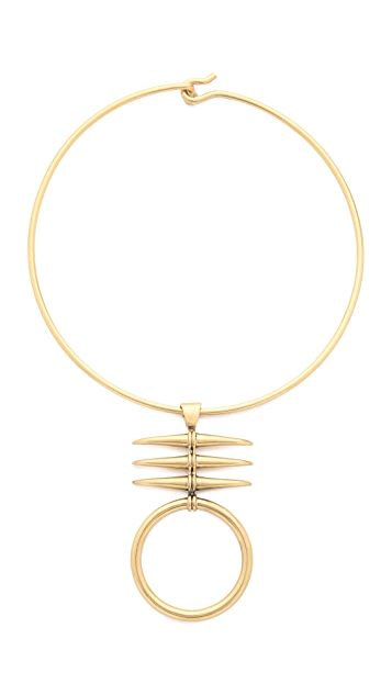 Tory Burch Metal Triple Horn Collar Necklace