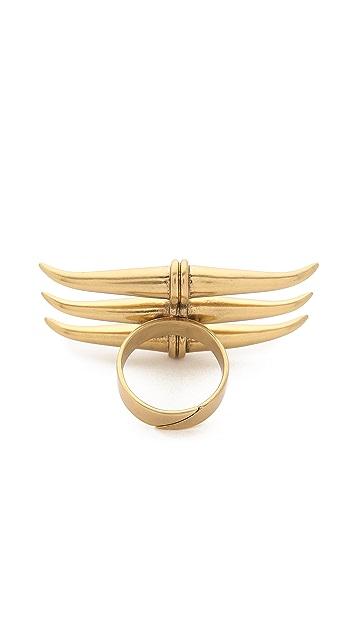 Tory Burch Металлическое кольцо с тремя рогами