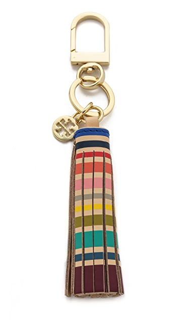 Tory Burch Multi Color Tassel Key Chain