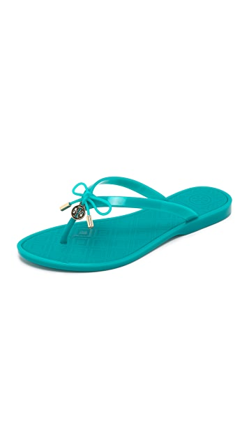 a89b7c6b1758 Tory Burch Jelly Bow Thong Sandals