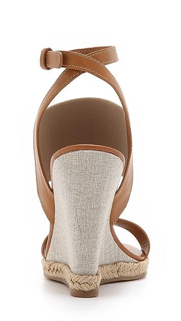 Tory Burch Raya Elastic Wedge Sandals