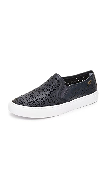 d1008c66119b01 Tory Burch Lennon Perforated Slip On Sneakers