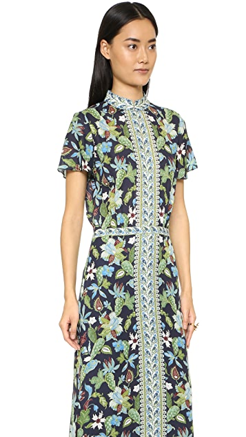 Tory Burch Silk Caftan Dress