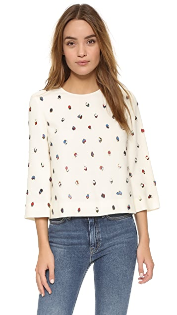 Tory Burch Embellished Top