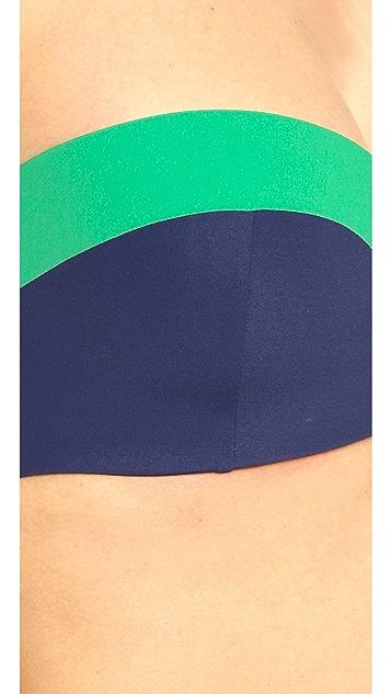 Tory Burch Color Block Bandeau Bikini Top