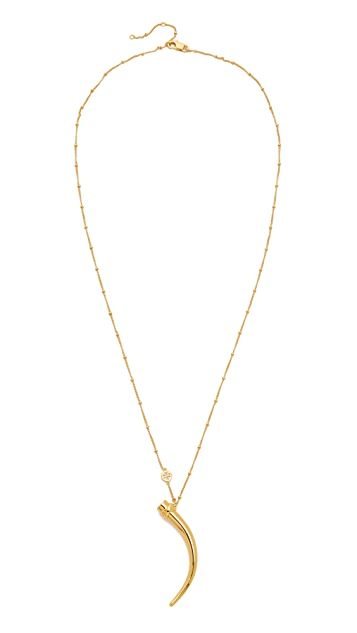 Tory Burch Classic Wrapped Horn Necklace