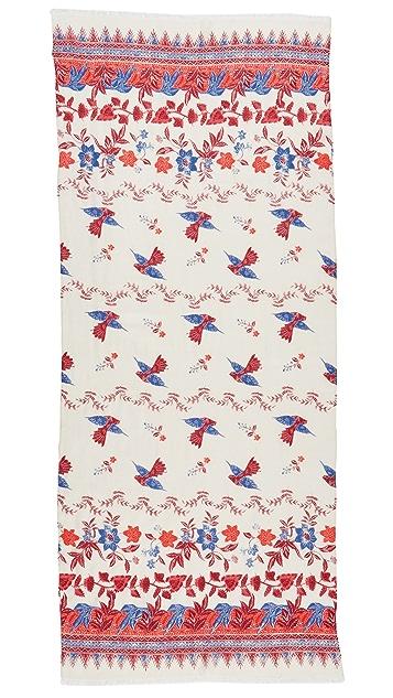 Tory Burch Floral Batik Print Scarf