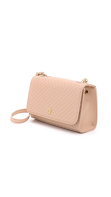db9c1e9422a ... Tory Burch Marion Embossed Shrunken Shoulder Bag ...