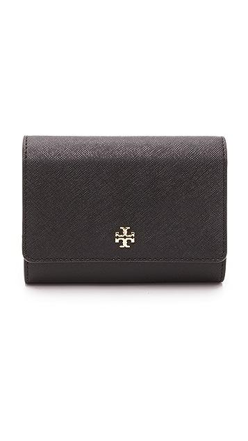 6cb1e80a08f7 Tory Burch Robinson Medium Flap Wallet