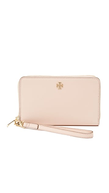 Tory Burch Robinson Zip Around Wristlet