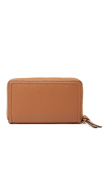 Tory Burch Thea Zip Around Wristlet Wallet