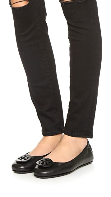 Tory Burch Minnie Travel ballerina flats