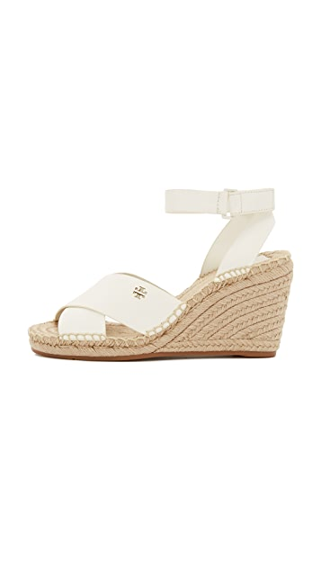 Tory Burch Bima Wedge Espadrille Sandals