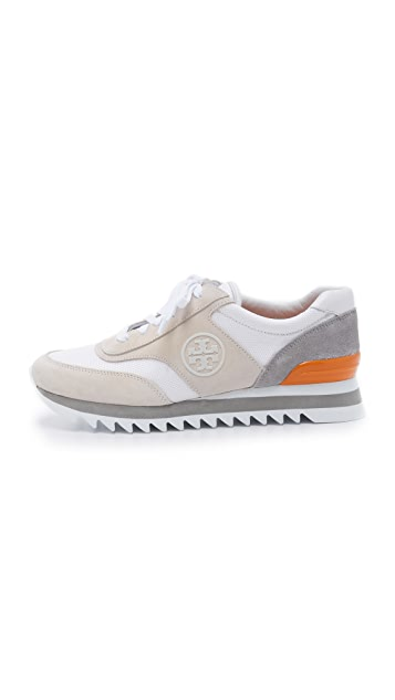 Tory Burch Sawtooth Logo Trainer Sneakers