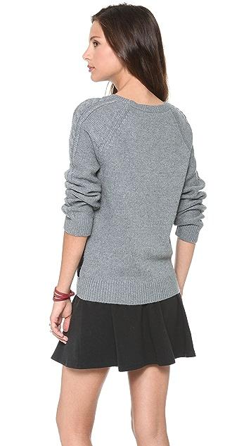 Townsen Evergreen Leather Sweater