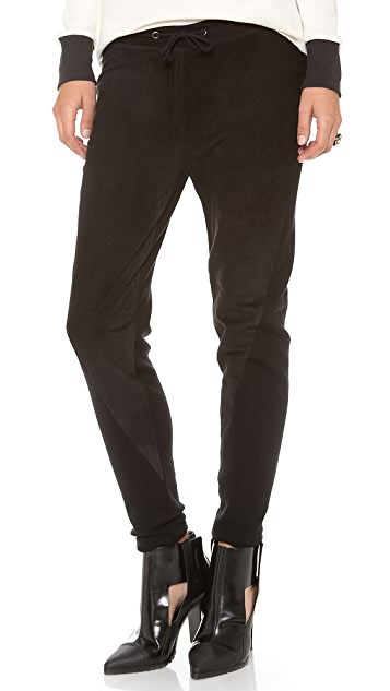Townsen Perforated Suede Pants