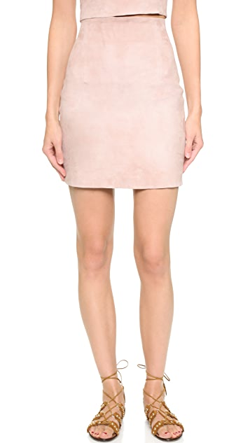 ThePerfext Suede High Waisted Miniskirt